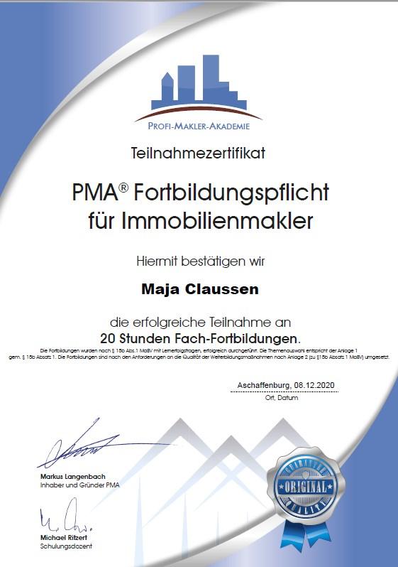 Fortbildung PMA 8.12.2020